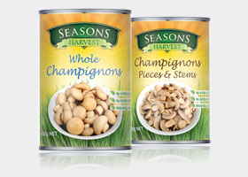 Seasons Harvest Canned Mushrooms