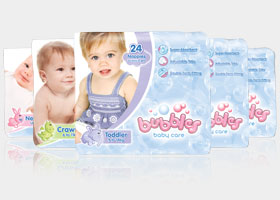 Bubbles Baby Care Nappies